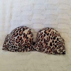 Victoria's Secret Miraculous Leopard Print Bra